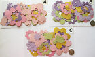 SCRAPBOOKING NO 372 - 18 DIE CUT FLOWERS IN MIXED SIZES - 3 PACKS AVAILABLE