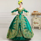 Lady Court Organza Lace Victorian Trumpet Sleeves Embroidery Costume Prom dress