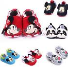 Infant Baby Boys Girls Cotton Soft Sole Prewalker Minnie Mickey Mouse Crib Shoes