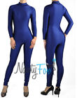 Navy Blue Super Hero Mock Neck Unitard,Bodysuit 80's Aerobic Costume S-3XL