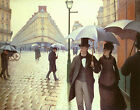 Paris A Rainy Day Gustave Caillebotte Painting Reproduction Art Print on Canvas