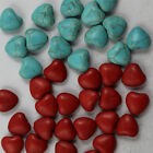 wholesale:40/200pcs beautiful turquoise heart-shaped charms spacer Beads 12x11mm