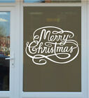 MERRY CHRISTMAS WINDOW STICKER vinyl wall decoration xmas decal shop removable