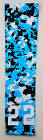 Custom Number ADULT LARGE Sports Arm Sleeve DIGITAL CAMO LIGHT BLUE BLACK WHITE