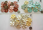 SCRAPBOOKING NO 381 - 16 PRIMA FLOWERS EMBELLISHED - BUTTONS - 4 PACKS AVAILABLE