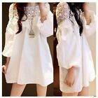 Crochet Lace Oversized Maternity Women's Extra Large Top Shirt Blouse Mini Dress