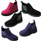 Chatterbox GIRLS CHELSEA BOOTS RIDING DESERT BIKER FASHION ANKLE SCHOOL SHOES
