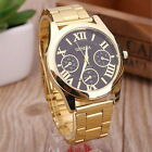 New Men Women Geneva Casual Analog Gold Dress Round Sport Quartz Wrist Watch