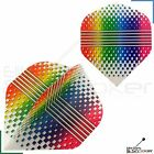 1/3/5/10/20 Sets Metronic Poly Striped Rainbow Dart Flights Standard Strong