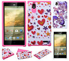 For ZTE WARP ELITE N9518 HARD Hybrid Rubber Silicone Case Cover + Screen Guard