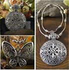 Ethnic Style Retro Tibetan Silver Carving Pendant Charm Necklace Chain Xmas Gift