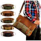 Vintage Style Men\'s Canvas Shoulder Casual School Military Messenger Travel Bag