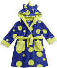 Boys Dressing Gown Lounge Coat Dinosaur Hood Design 2-3 Y to 5-6 Y Great Gift