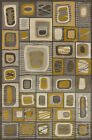 Grey Contemporary Blocks Boxes Squares Cubes Area Rug United Weavers 702-23372