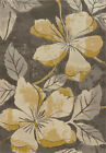 Grey Contemporary Petals Stems Leaves Vines Area Rug United Weavers 702-28872