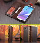 Retro Vintage Style Book Flip Leather Case Cards Cover For Apple/Samsung Galaxy