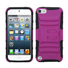 For iPod Touch 6 6th Gen Rubber IMPACT TUFF HYBRID KICK STAND Case +Screen Guard