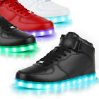 Blinkende Damen Sneakers High Led Light Farbwechsel Schuhe LED Licht 78315 Top