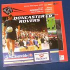 DONCASTER ROVERS HOME PROGRAMMES 2000-2001