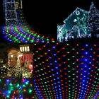 1.5*1.5m 96 LED Bulbs Mesh Net String Fairy Light Christms Party  Outdoor