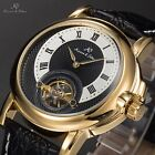 KS Navigator Luxury Men's Automatic Mechanical Leather Sport Steel Wrist Watch