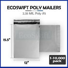 "1-10000 12x15.5 ""EcoSwift"" Poly Mailers Envelopes Plastic Shipping Bags 2.35 MIL"