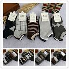 5 Pairs/Pack Classic Business Man Casual Sport Cotton Striped Plaid Solid Socks