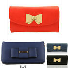 Women's Nice Faux Leather Bow Charm Purses Wallet Coin Bag Clutch Purse Gift Box