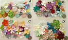 SCRAPBOOKING NO 296 - 18 PAPER PRIMA FLOWERS - CHOICE 10 PACKS - PASTEL SHADES
