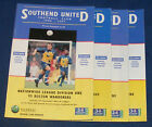 SOUTHEND UNITED HOME PROGRAMMES 1996-1997