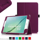 """Leather Case Cover for Samsung Galaxy Tab S2 8.0 / 9.7  Wake/Sleep 8""""/9.7"""" inch"""