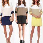 Sexy Women's Long Sleeve Casual Casual Cocktail Party Short Slim Dress New w