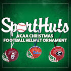 "CHRISTMAS XMAS NCAA MINI FOOTBALL HELMET ORNAMENT 2"" with TEAM COLORED STRING!"