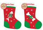 Santa Claws/Paws Dog & Cat Pet Christmas Felt Stocking Gift Bags Tree Decoration