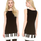 QUEEN COLLECTION PUNK 6896 PIANO KEYS LINNING DRESS
