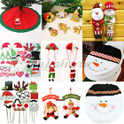 Santa Claus Snowman Tree Skirt Ornaments Wedding Photo Props Gift Party Decor