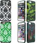 For Apple iPhone 6 6S HARD Hybrid Rubber Silicone Case Phone Cover +Screen Guard