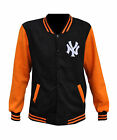 New York Yankees Noir & Orange Letterman / Universitaire Style Université Vestes