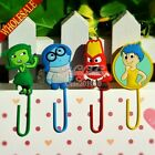 Lovely 4pcs/set Inside Out Cartoon Bookmarks,PVC Paper clips For Students Gifts