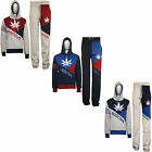 NEW Mens ADDICTED Contrast Hooded Tracksuit Sweat Top & Jog Track Bottoms