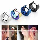 Pair Stainless Steel Round Hoop Huggie Earrings Ear Piercing Jewelry Men Women