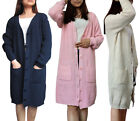 Oversize Women's Cardigans Long Thick Knit Sweater Coat Jacket Tops Outerwear