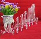 """Practical Clear Plastic Plate Display Stand Picture Frame Easel Holder 3""""5""""7""""9"""""""