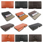 NEW LEATHER GENUINE REAL BELT LOOP HOLSTER POUCH CASE FOR IPHONE SAMSUNG HTC LG