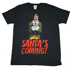 Official BUDDY THE ELF Santa's Coming! Mens Christmas T-Shirt Xmas BNWT UK