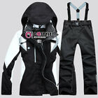 Womens Winter Ski Suits Jacket /Pants Waterproof Coat Snowboard Clothing S-2XL