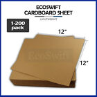 "1-200 ""EcoSwift"" Chipboard Cardboard Craft Scrapbook Photo Pads Sheets 12"" x 12"""