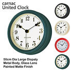 Vintage Stylish Metal Hanging Wall Clock Quartz Time Home Bedroom Non Ticking UK