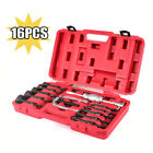 16 PCS PIECE BEARING REMOVER FREE WARRANTY INTERNAL BLIND EASY TO TRANSPORT