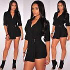 Sexy Women half sleeves small suits bodycon casual short pants jumpsuit playsuit